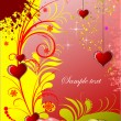 Decorative Valentine`s Day greeting card — Stock Vector