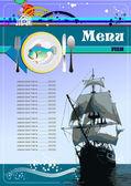Fish Restaurant (cafe) menu — Stock Vector