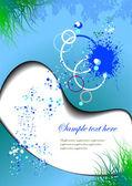 Blue spring grunge background — Stock Vector