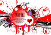Cartolina d'auguri di San Valentino — Vettoriale Stock