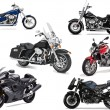 Six vector illustrations of motorcycle — Stock Vector