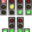 Stock Vector: Traffic lights