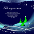 Blue winter background with Santa image — Stock Vector #7086068