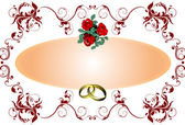 Wedding or Valentine`s day card — Stock Vector