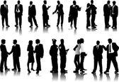 Business silhouettes — Stock vektor
