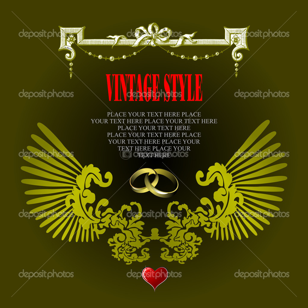 Wedding or Valentine`s day card — Stock Vector #7085698