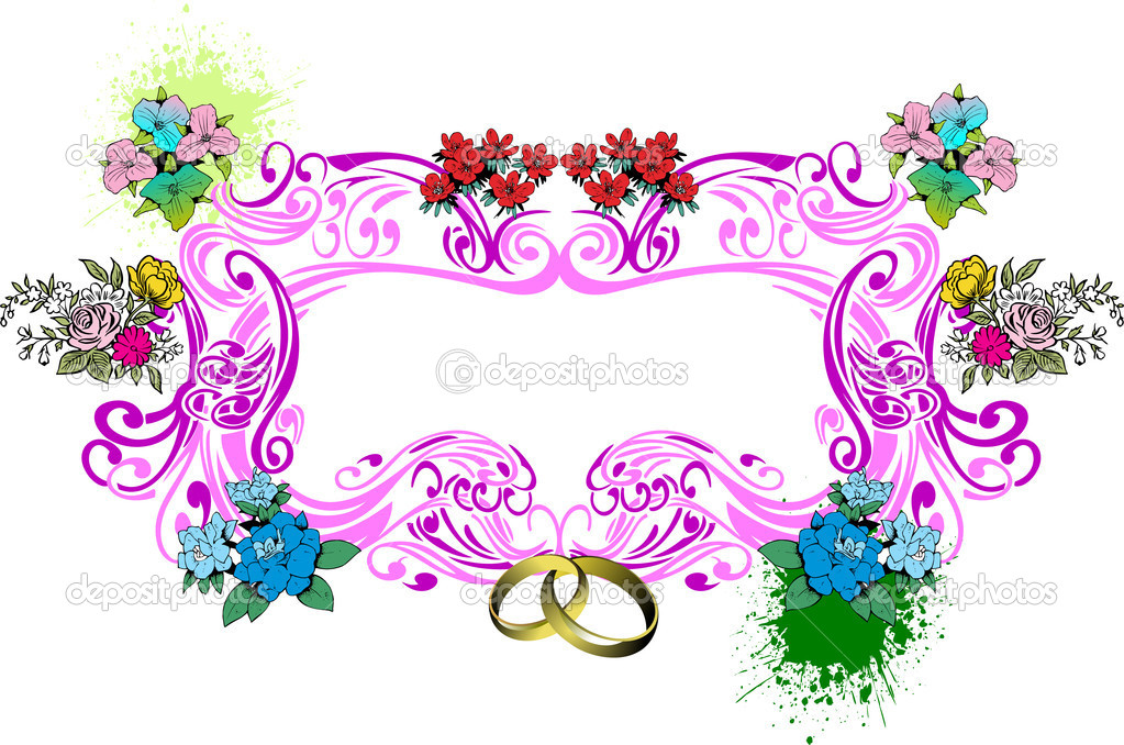 Wedding or Valentine`s day card vector illustration — Stock Vector #7086045
