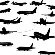Vetorial Stock : Airplane silhouettes