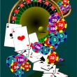 Casino elements. Roulette — Stock Vector