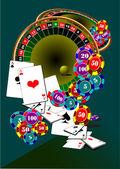 Casino elements. Roulette — Stock Vector
