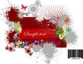 Floral grunge background. Vector illustration — Stock Vector