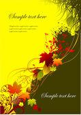 Autumnal leaf background, vector illustration — Stock Vector