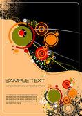 осенний лист фон, векторные иллюстрации — Cтоковый вектор