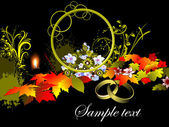 Grunge autumn background, vector illustration — Stock Vector