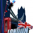 Royalty-Free Stock Vector Image: Cover for brochure with London images. Vector illustration