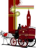 обложка для брошюры с изображениями, лондон. векторные иллюстрации — Cтоковый вектор