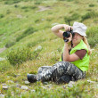 Royalty-Free Stock Photo: Nature photographer taking pictures