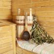 Interior of sauna — Foto Stock