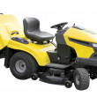 Yellow lawnmower — Stock Photo #6815390