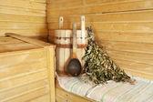 Wnętrze sauny — Zdjęcie stockowe