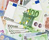 Background of euro banknotes — Stock Photo