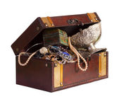 Wooden treasure trunk — Foto de Stock