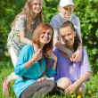 Happy mothers with teenagers — Stock Photo