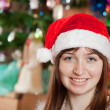Portrait of girl in Santa hat — Stock Photo #6854254