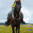 Female rider - Foto Stock