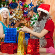 Girls  with christmas gifts — Stock Photo #6854467