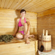 Stock Photo: Womat sauna