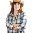 Stock Photo: Happy pastoral woman