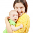 Woman with 1 month baby — Stock Photo #6854782