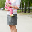 Happy mother with adorable toddler — Stock Photo #6854803