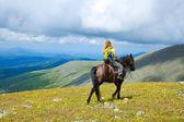 Horseback riding — Stock Photo