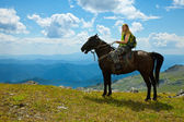 Horse ridding — Stock Photo