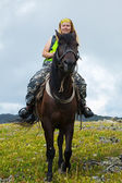 Female rider — Foto Stock