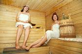 Women taking steam bath — Stock Photo