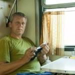 Man in sleeper train — Stock Photo #6874794