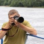 männlichen Fotografen — Stockfoto