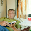 Mature man in sleeper train — Stock fotografie #6874804