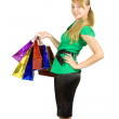Foto Stock: Girl with shopping bags