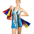 Girl with shopping bags — Stock Photo #6874814