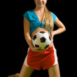 Sexy female soccer fan — Stock Photo #6874820