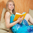 Reading girl - Stock Photo