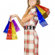 Girl with shopping bags — Stock Photo #6875068