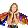 Girl with shopping bags. — Stock Photo #6875069