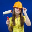 House painters with paint rollers — Stock Photo