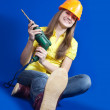 Pretty construction worker - Foto de Stock