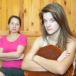 Daughter and mother having quarrel — Stock Photo